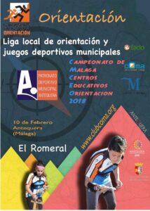 Juegos deportivos municipales de Antequera y Liga local de Orientacion Antequera